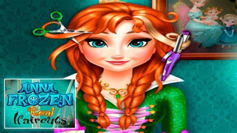 Anna Frozen Real Haircuts: Disney Princess Frozen Haircuts ... Kids Games For Girls Disney Free Online