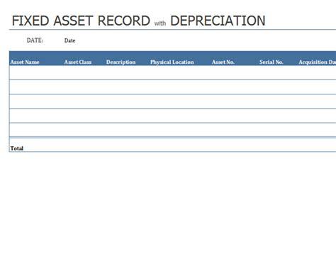 Asset Card Template by Equipment Inventory List