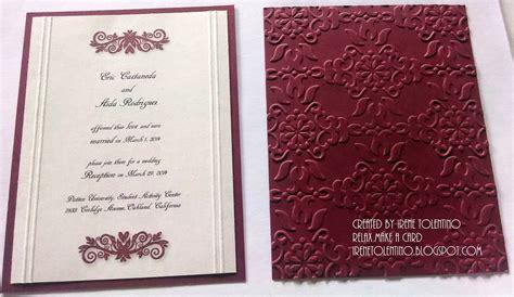 Wedding Invitations Burgundy by Relax Make A Card Burgundy Wedding Reception Invitations