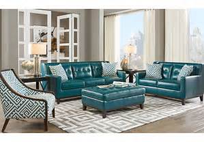 rooms to go living rooms reina green 3 pc leather living room leather living