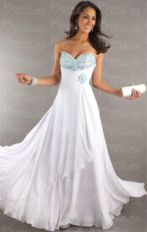 Floor Length Dresses Uk by Floor Length White A Line Strapless Backless Prom Dress