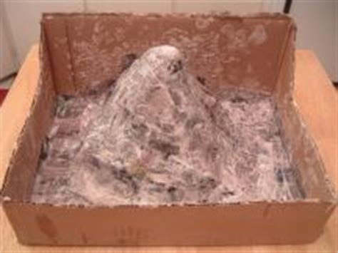 How To Make A Mountain With Paper Mache - make a volcano project how things work