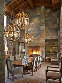 rustic dining room lighting high ceiling lighting home design ideas renovations photos