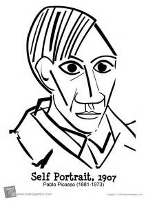 picasso coloring pages pablo picasso freebies thecreativestack