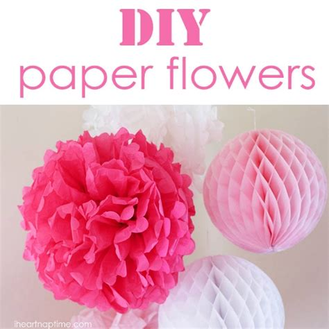 Things You Can Make With Tissue Paper - how to make tissue paper flowers diy home things