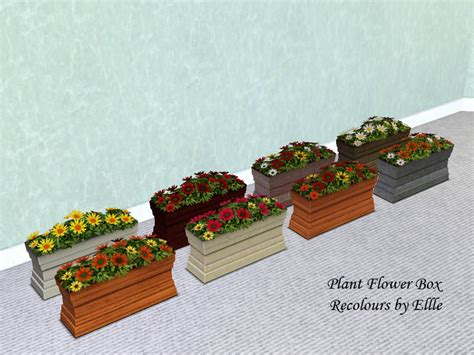 Sims 3 Planter Box by Mod The Sims Plant Flower Box Maxis Content Recolours