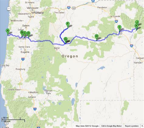 map of oregon newport finallyheading inland