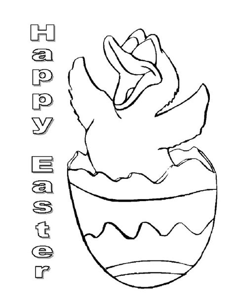 broken egg coloring page happy easter duckling in broken egg coloring pages happy