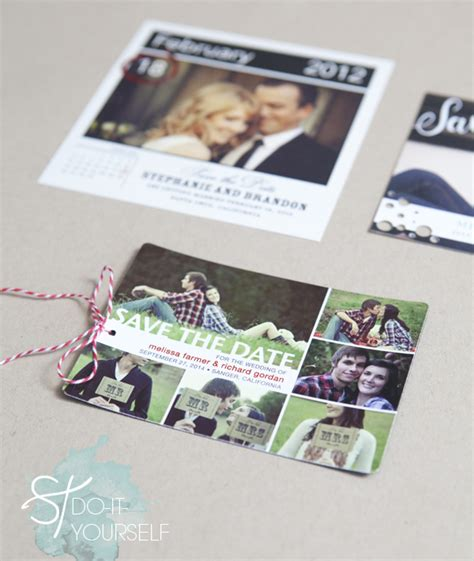 Wedding Paper Divas Save The Date Magnets by Easily Embellished Save The Dates With Wedding Paper Divas