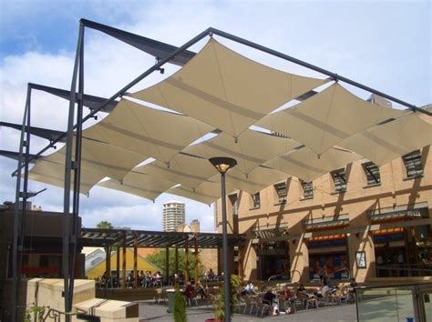 Voile Ombrage 982 by Contemporary Pergola With Tensile Panels Arch Landscape