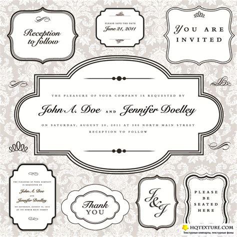 Wedding Font Collection Rar Vintage Frames Vector Collection 187 векторные клипарты