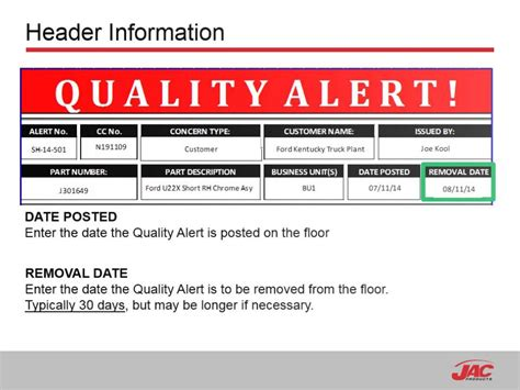 Manufacturing Quality Alert Template 20 Images Of Quality Alert Template Form Geldfritz Net
