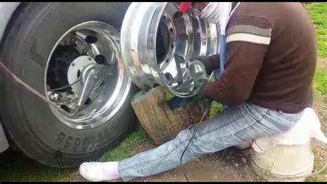 como pulir aluminio como pulir rueda de aluminio de camion