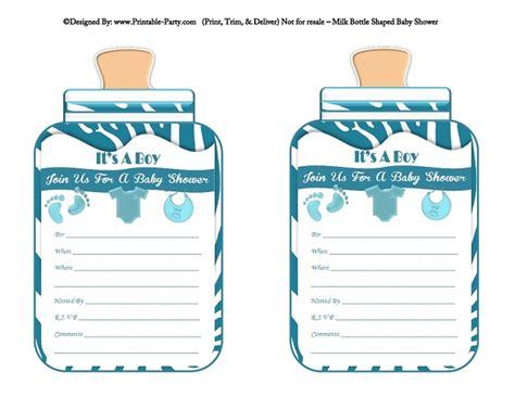 Baby Shower Invitations Free Printable For A Boy