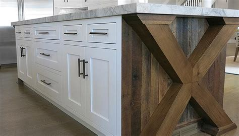reclaimed wood kitchen island x based kitchen island transitional kitchen