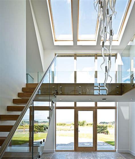 double height hallway atrium  light fitting