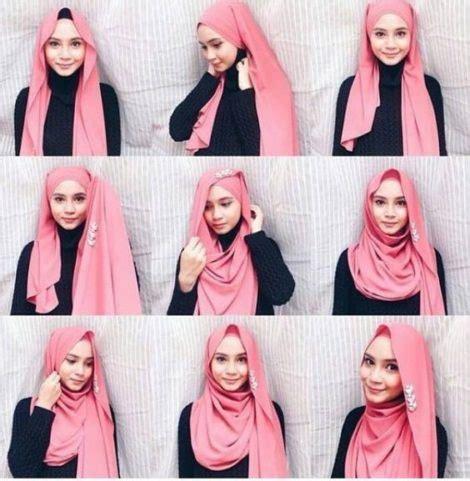 tutorial memakai jilbab pashmina ima scarf 50 cara memakai kerudung segi empat terbaru 2018