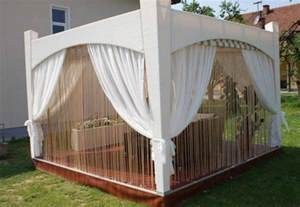 Diy Outdoor Gazebo Curtains by Diy Wooden Gazebo Designs And Decorating Ideas