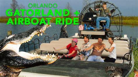 airboat orlando fl gatorland and airboat ride orlando florida youtube