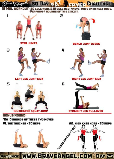 day 25 wod fitjunkie leg workouts cardio and at home