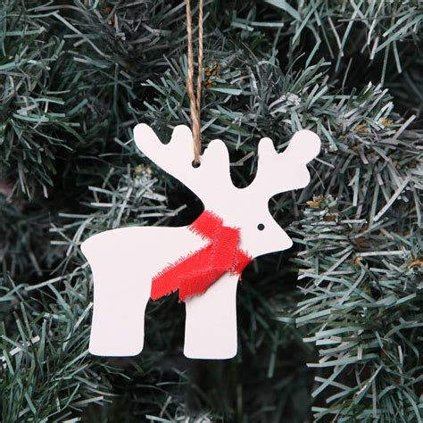 christmas reindeer tree decorations two sizes by red