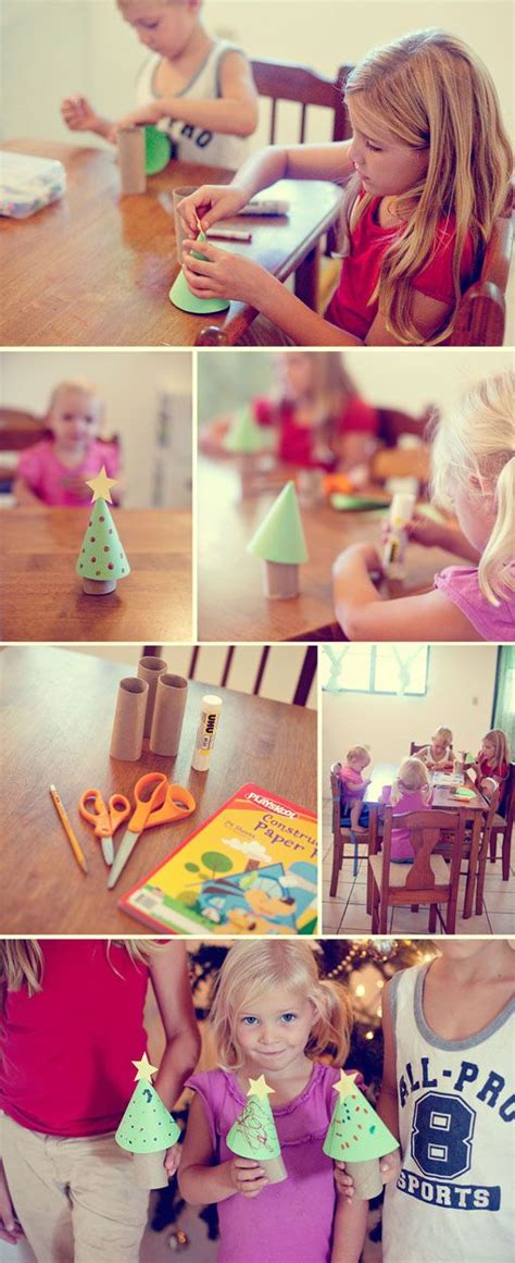 christmas craft 3 year old will make this toilet paper roll tree with my 3 year craft simple