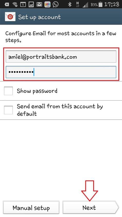 android email setup הגדרת תיבת pop3 במכשיר android