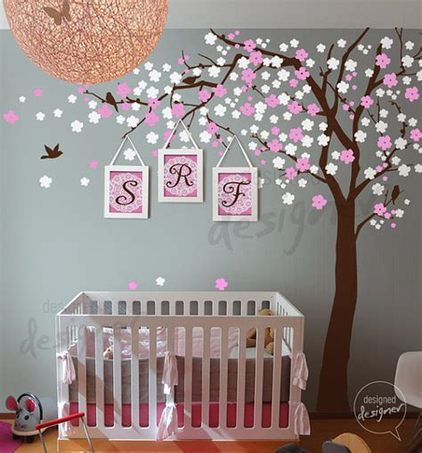 cherry blossom tree wall decal for nursery nursery wall decals cherry blossom tree wall by