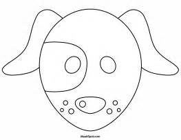 printable dog mask template printable dog mask