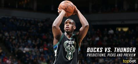 Milwaukee Bucks Giveaways 2017 - bucks vs thunder predictions picks and preview april 2017