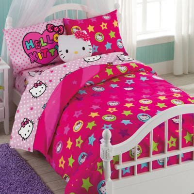 kitty comforter hello kitty bedding set from buy buy baby