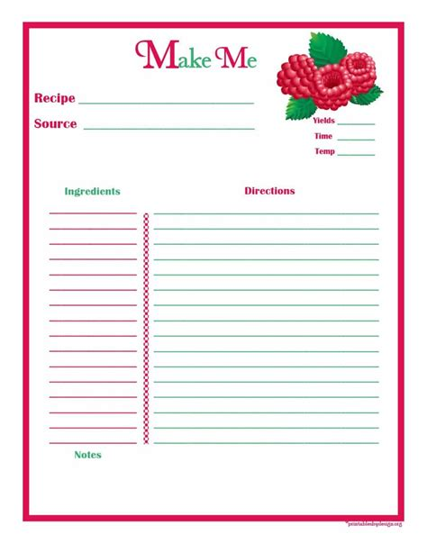 44 cookbook templates recipe book recipe cards
