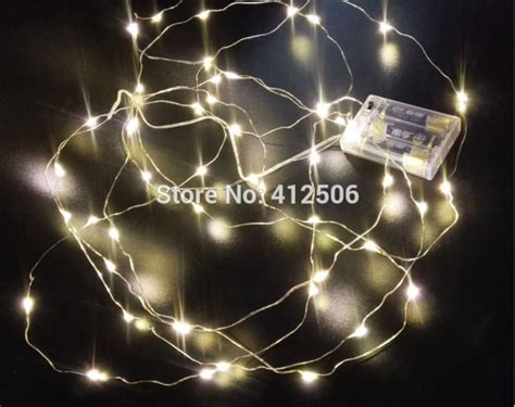micro led string lights on bendable wire 2x3m 30 led 10ft warm white battery micro copper silver