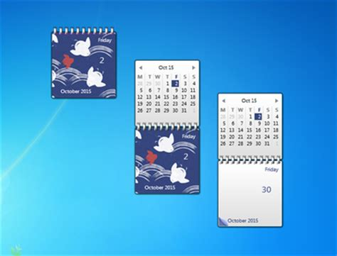 Calendar Desktop Gadget Japanese Calendar Windows 7 Desktop Gadget