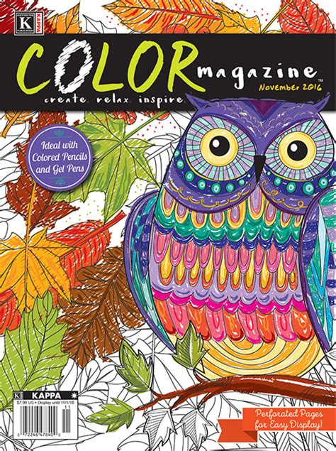 coloring book magazine color magazine november 2016 kappa publishing coloring