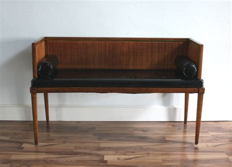 leather settee bench reserved for jean marc vintage mid century modern settee