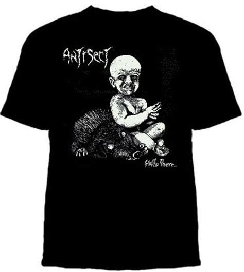 T Shirt Antisect antisect hallo there on a black shirt