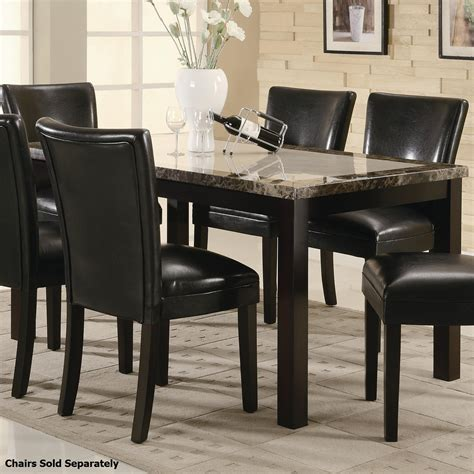 Brown Marble Dining Table Coaster 102260 Brown Marble Dining Table And Chair Set A Sofa Furniture Outlet Los
