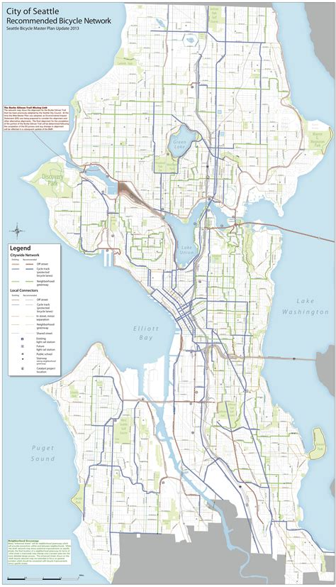 seattle map pdf seattle bike