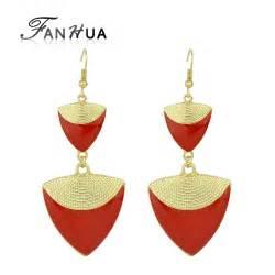 Bohemia Chandelier Aliexpress Com Buy Fanhua Bijoux Brand Earrings Red