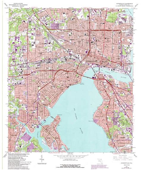 jacksonville map jacksonville topographic map fl usgs topo 30081c6