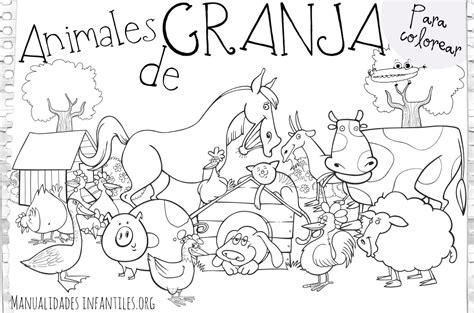 Imagenes Para Colorear Animales De La Granja | dibujos de animales de granja manualidades infantiles