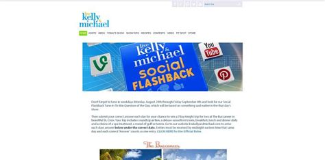 Live With Kelly And Michael Sweepstakes - live with kelly michael social flashback tune in to win sweepstakes