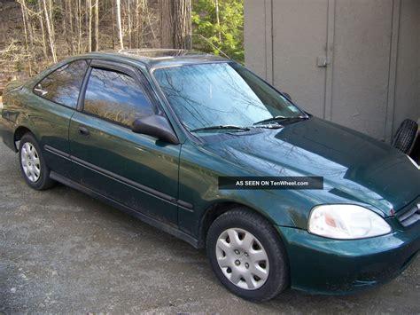 1999 2 door honda civic 1999 honda civic dx 2 door coupe auto green