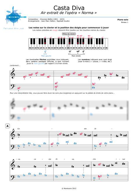 spartito casta partition piano casta extrait de l op 233 ra norma