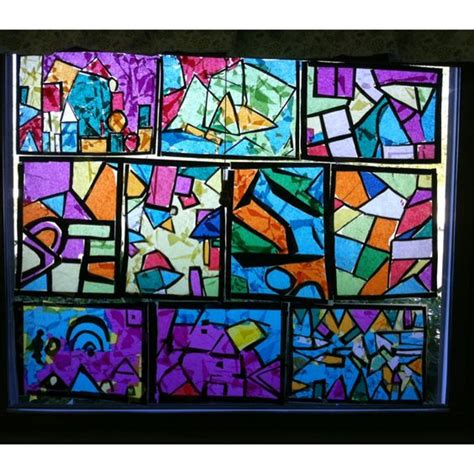 How To Make A Paper Stained Glass Window - and easy stained glass windows i had my students use