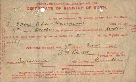 full birth certificate stoke on trent harry bird
