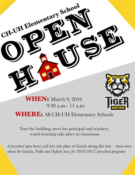 open house flyer school open house flyer 28 images template school open