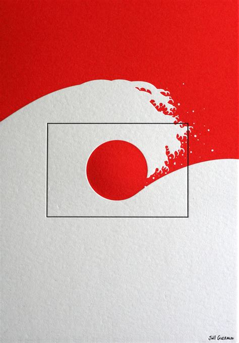 japanese designer artists unite for japan flags webdesigner depot