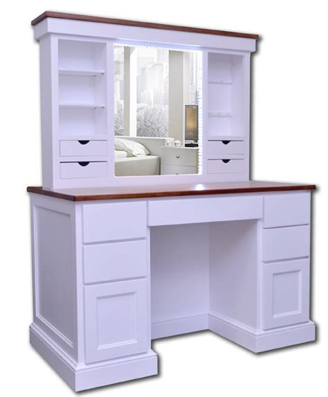 Desk With Mirror by Vanity Desk With Illuminated Pop Up Mirror